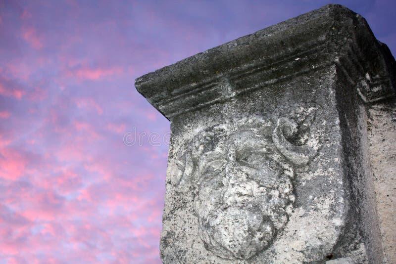 Głowa Jupiter z baranów rogami obrazy stock