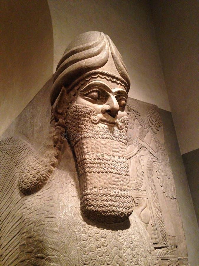 Głowa Lamassu w Wielkomiejskim muzeum sztuki obrazy stock
