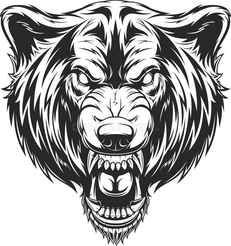Głowa okrutnie wilk royalty ilustracja