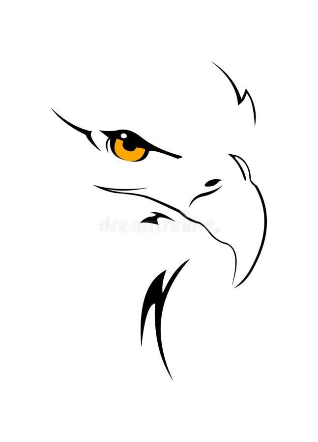 głowa orła ilustracja wektor