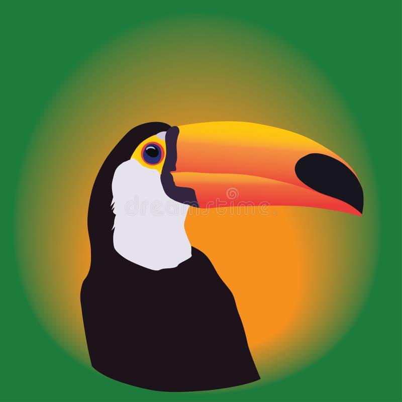 Głowa pieprzojad na zielonym tle ilustracji