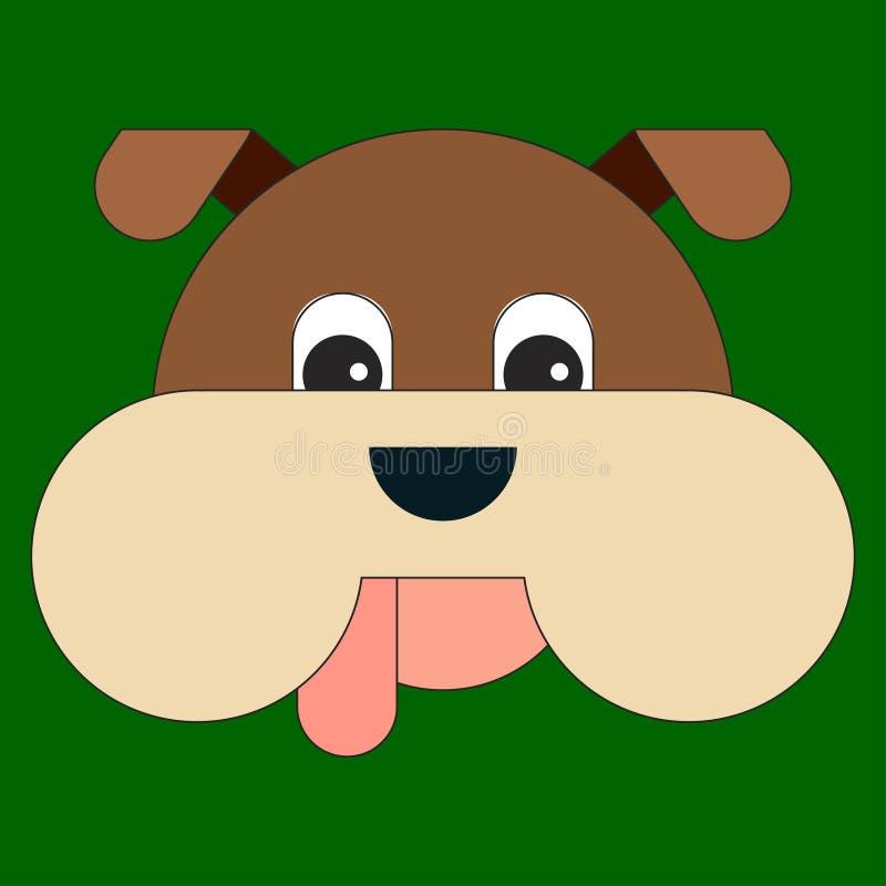 Głowa pies w kreskówki mieszkania stylu royalty ilustracja