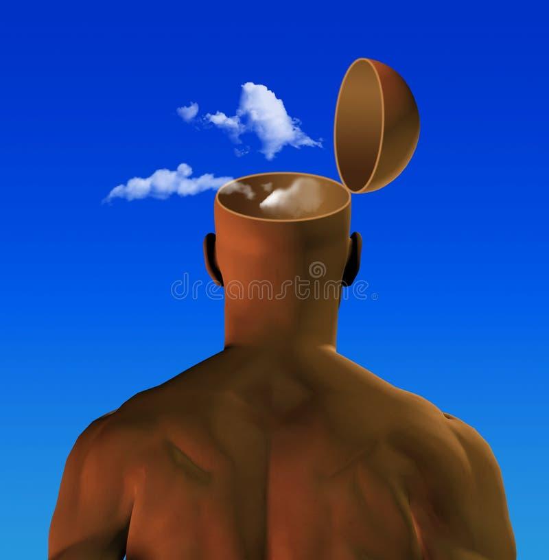 głowa powietrza ilustracja wektor