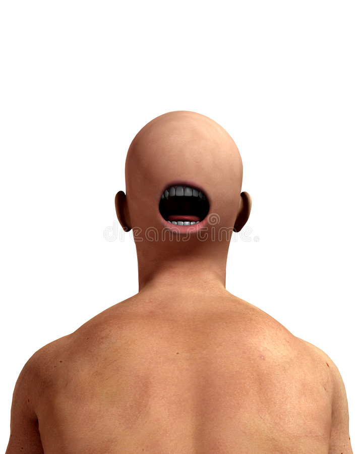 Głowa przerażający Plecy obrazy stock