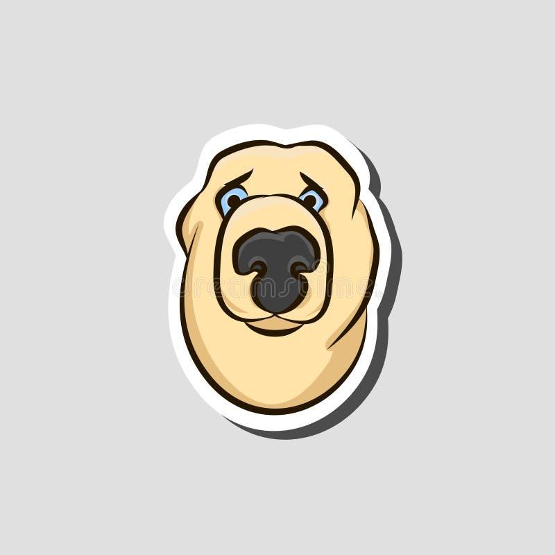 Głowa psi majcher - smutny royalty ilustracja