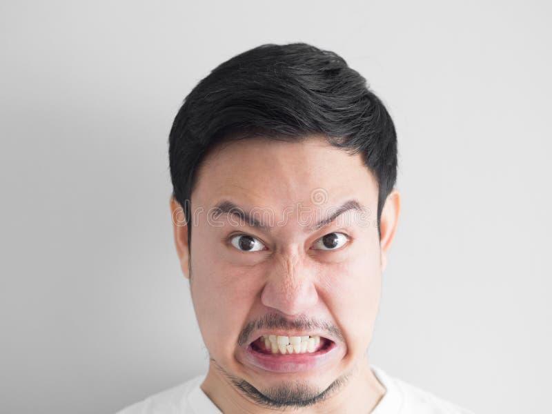 Głowa strzał gniewny twarz mężczyzna fotografia royalty free