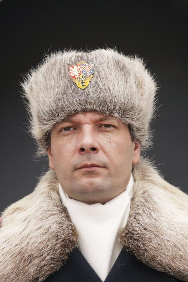 Głowa strzał Grodowy strażnik przy Praga kasztelem fotografia stock