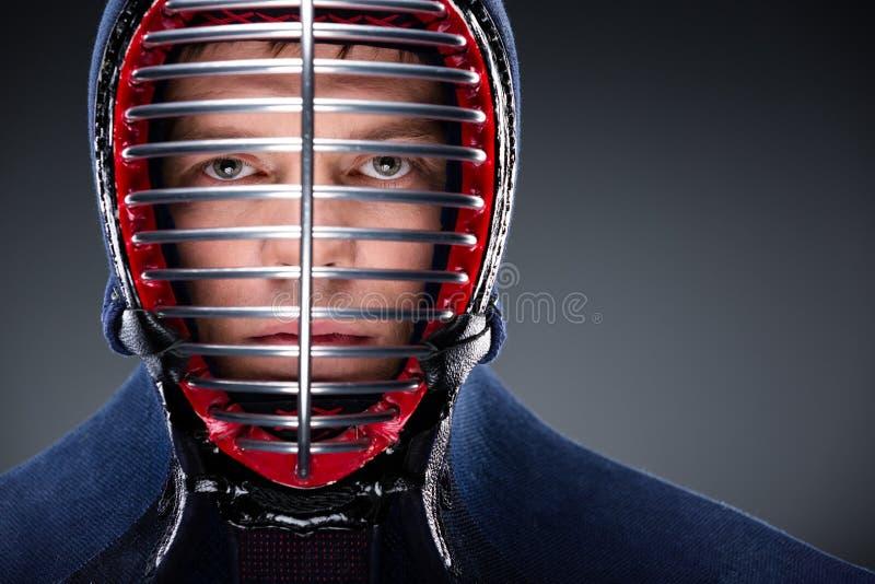 Głowa strzelająca kendoka zdjęcia royalty free
