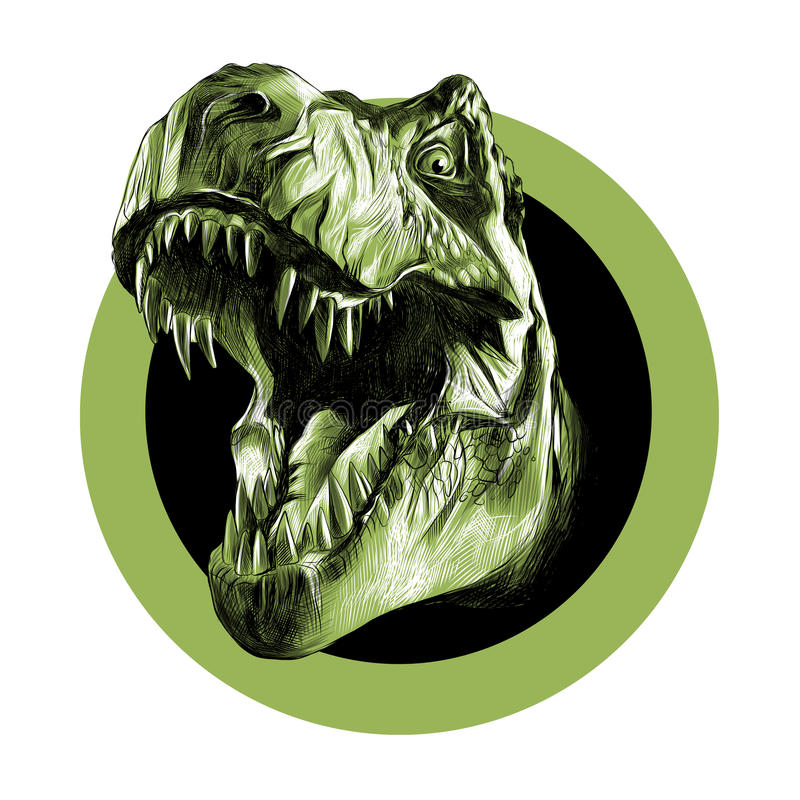 Głowa Tyrannosaurus ilustracji