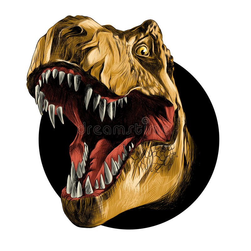 Głowa Tyrannosaurus ilustracja wektor