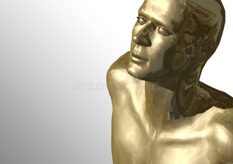 głowa złoto ilustracji