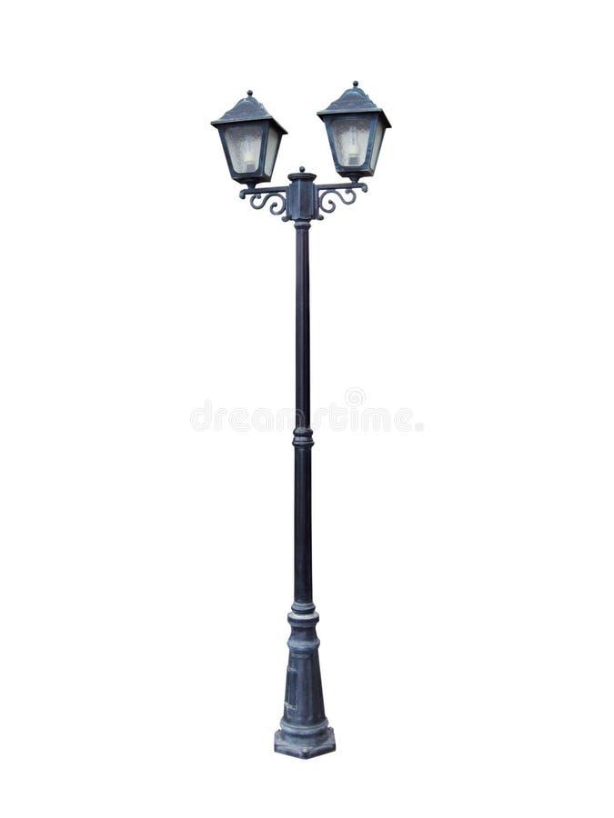 głowiasta lampowa ulica dwa zdjęcie royalty free