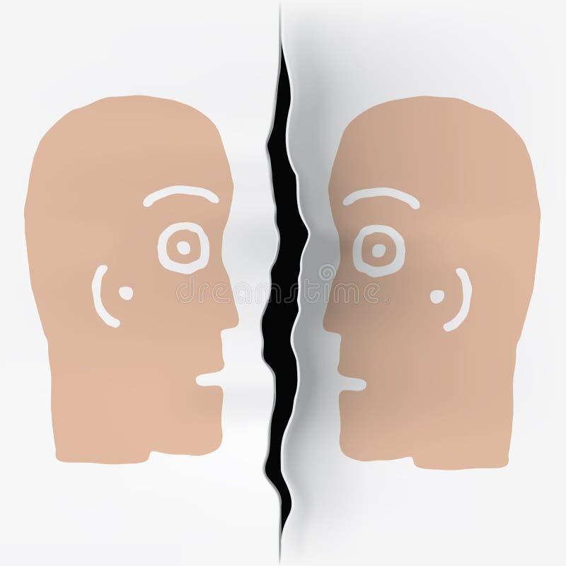 głowy oddzielali dwa ilustracji