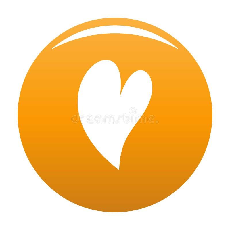 Głucha kierowa ikony pomarańcze ilustracja wektor