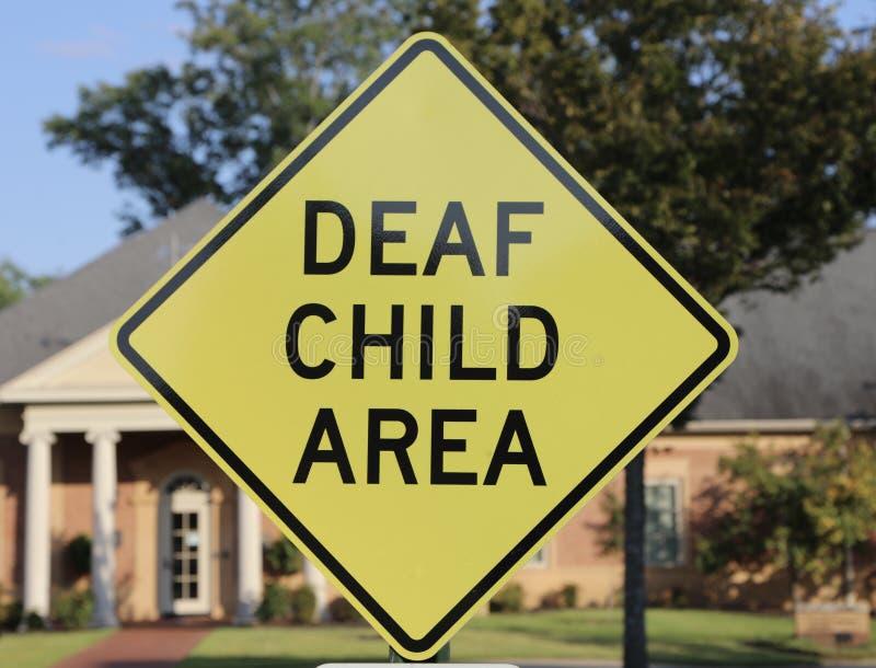 Głuchy dziecko teren obrazy royalty free