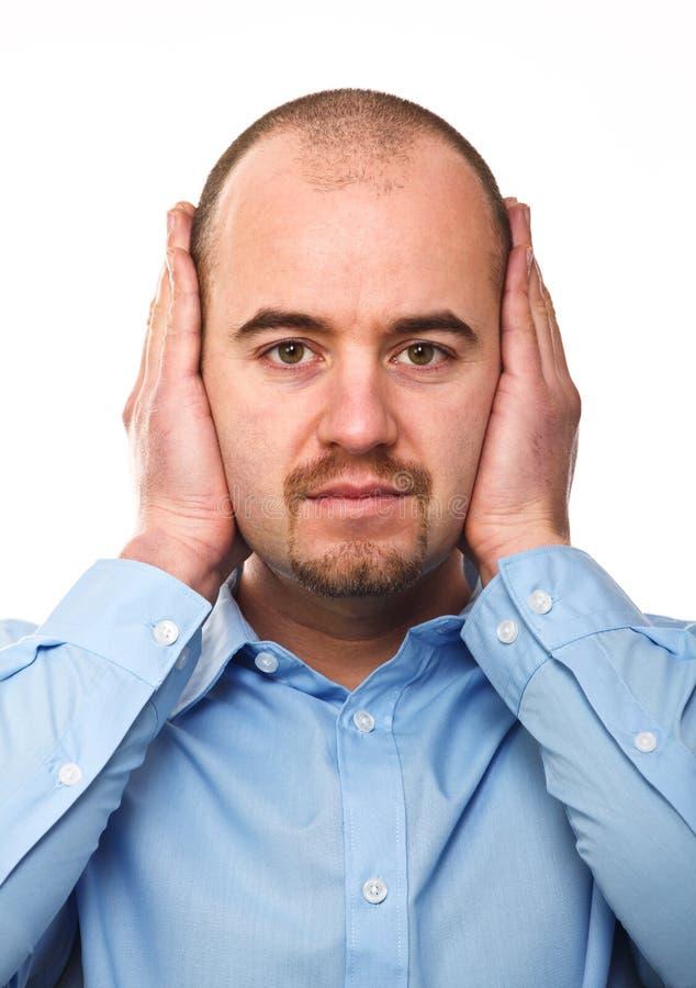 głuchy mężczyzna fotografia stock