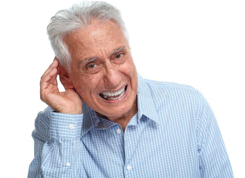 Głuchy starszy mężczyzna obraz royalty free