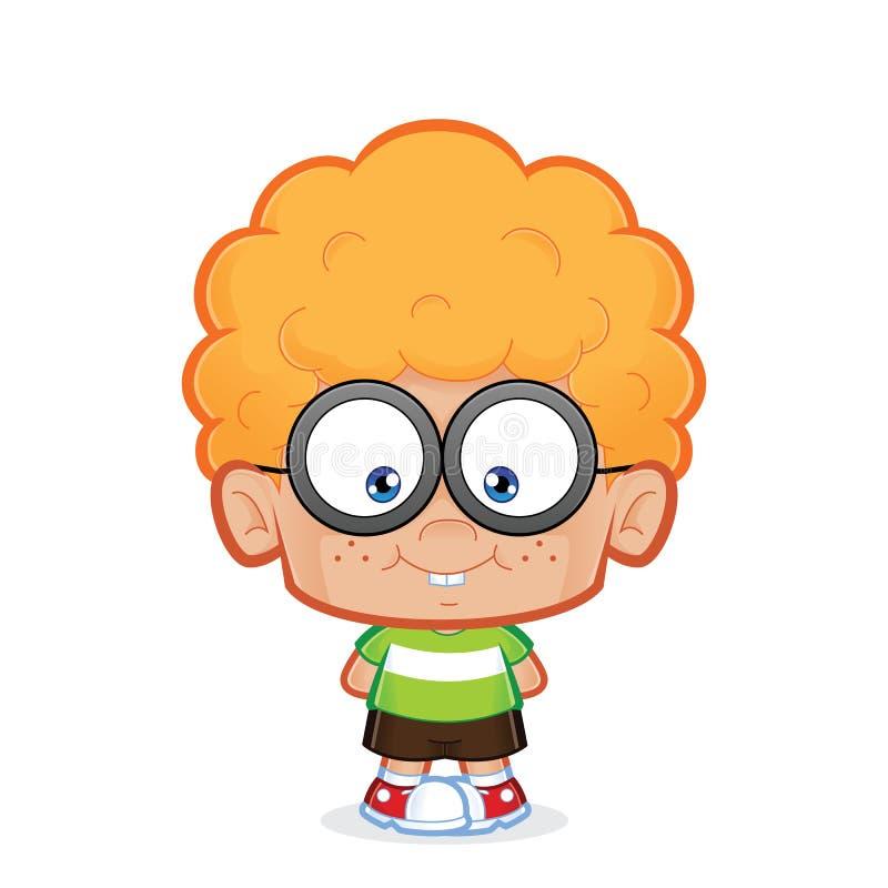 Głupek chłopiec pozycja ilustracji