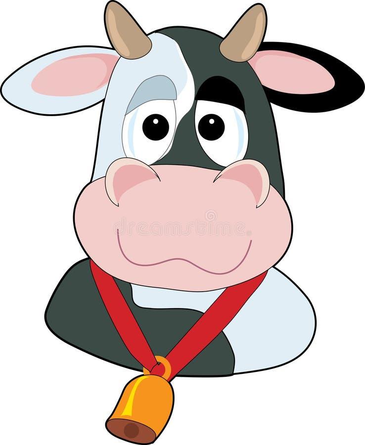 głupia krowa głowy royalty ilustracja