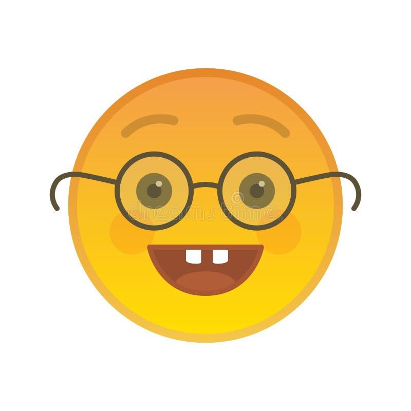 Głupka emoticon z szkło odosobnionym elementem royalty ilustracja