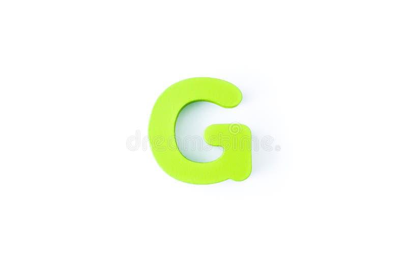 G信件用英语 库存照片