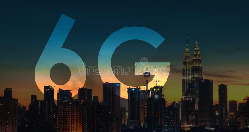 6G在吉隆坡马来西亚的文本 库存照片