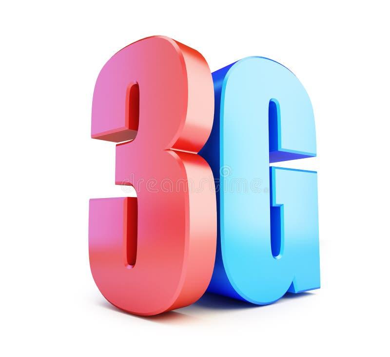 3G标志, 3G多孔的高速数据无线连接 向量例证