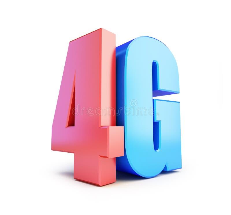 4G标志, 4G多孔的高速数据无线连接 皇族释放例证