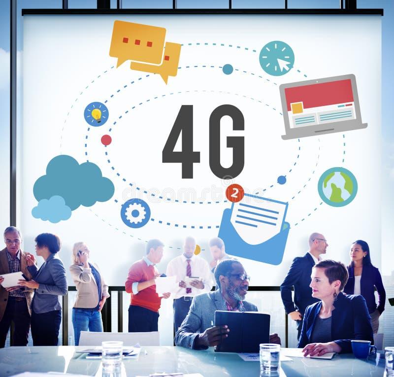 4G电信连接网络流动性概念 免版税图库摄影