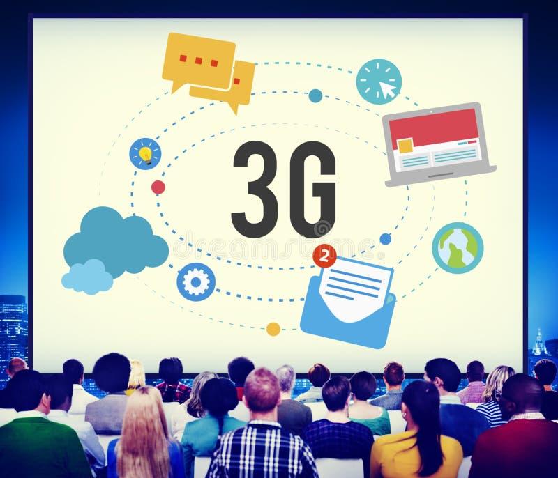 3G连接无线电信流动性概念 免版税图库摄影