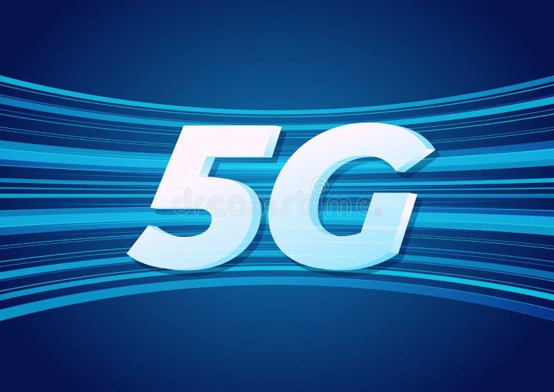 5G速度新的无线互联网wifi连接 皇族释放例证