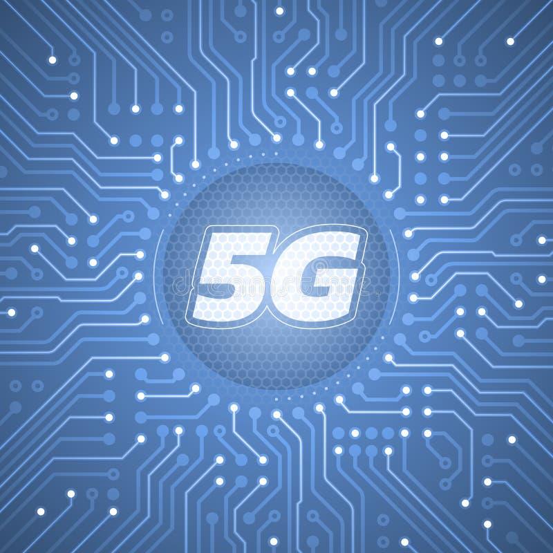 5G - 5èmes systèmes sans fil de génération illustration libre de droits