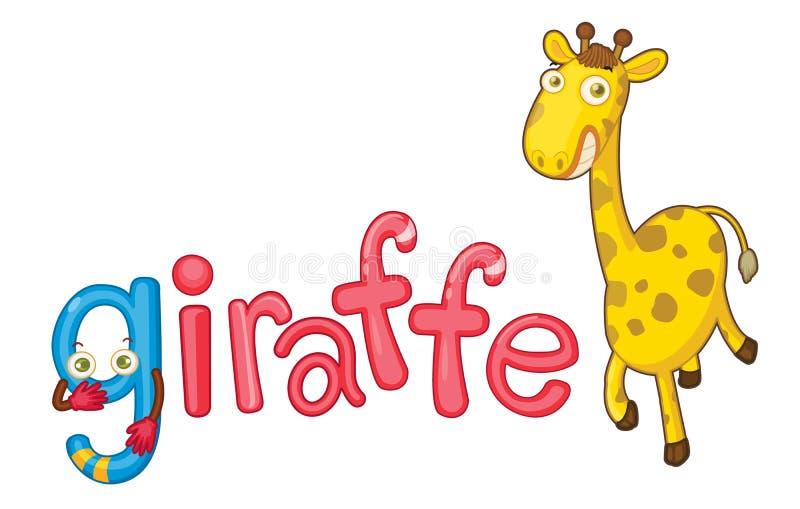 g żyrafa ilustracja wektor