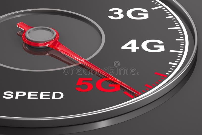 5g δίκτυο στο ταχύμετρο r ελεύθερη απεικόνιση δικαιώματος