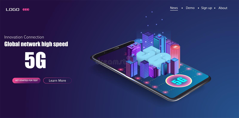 5G νέα ασύρματη σύνδεση wifi Διαδικτύου διανυσματική απεικόνιση
