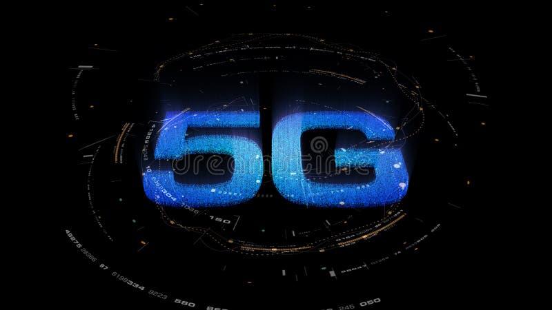 5G πέμπτη καινοτόμος γενεά υψηλής ταχύτητας εικονιδίων ψηφιακή ασύρματη απεικόνιση αποθεμάτων