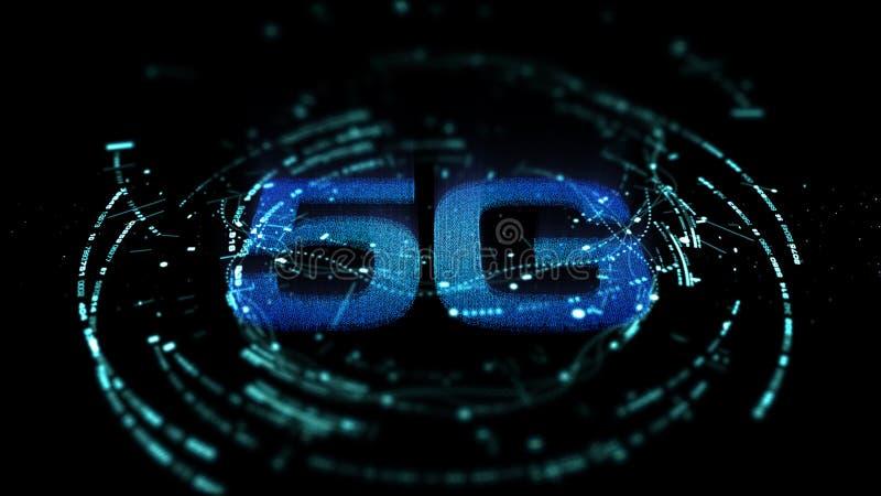 5G πέμπτη καινοτόμος γενεά υψηλής ταχύτητας εικονιδίων ψηφιακή ασύρματη ελεύθερη απεικόνιση δικαιώματος