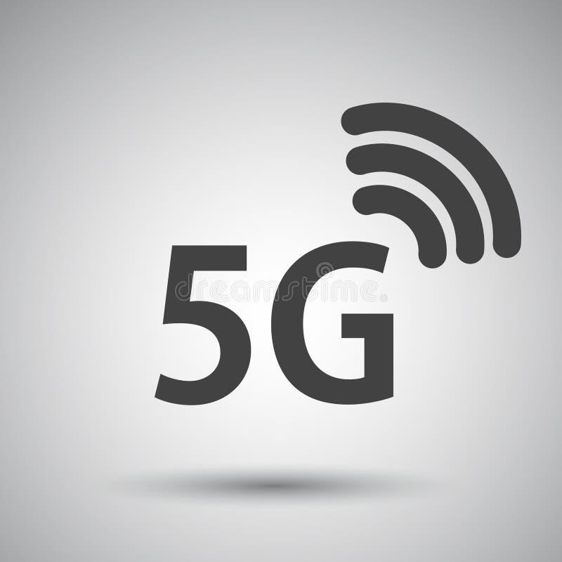 5G голодают значок интернета также вектор иллюстрации притяжки corel иллюстрация вектора
