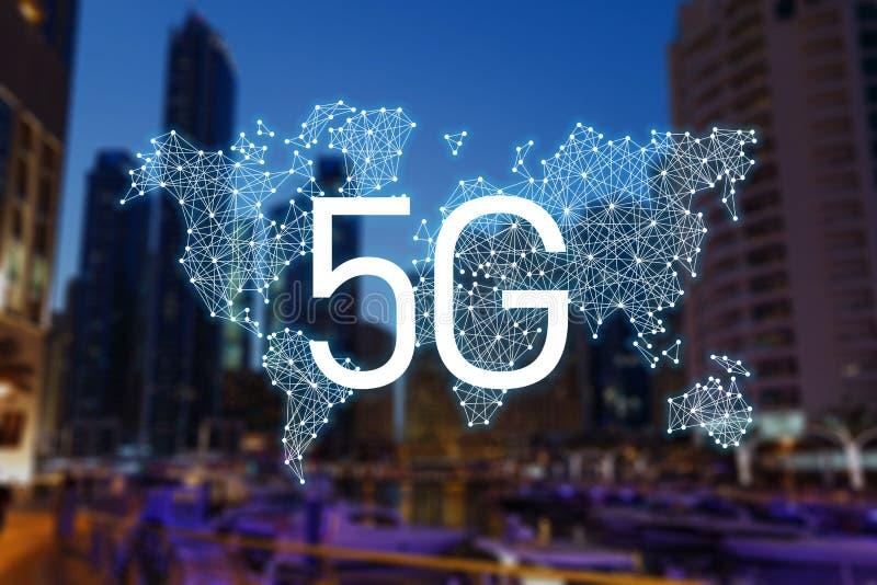 концепция 5g технологии доступа в интернет стоковое фото rf