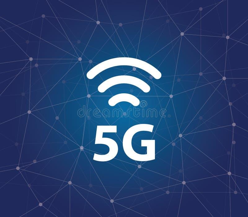 5g - 与毫米波的新的超速的网络,巨型MIMO,全双工, beamforming和小细胞 库存例证