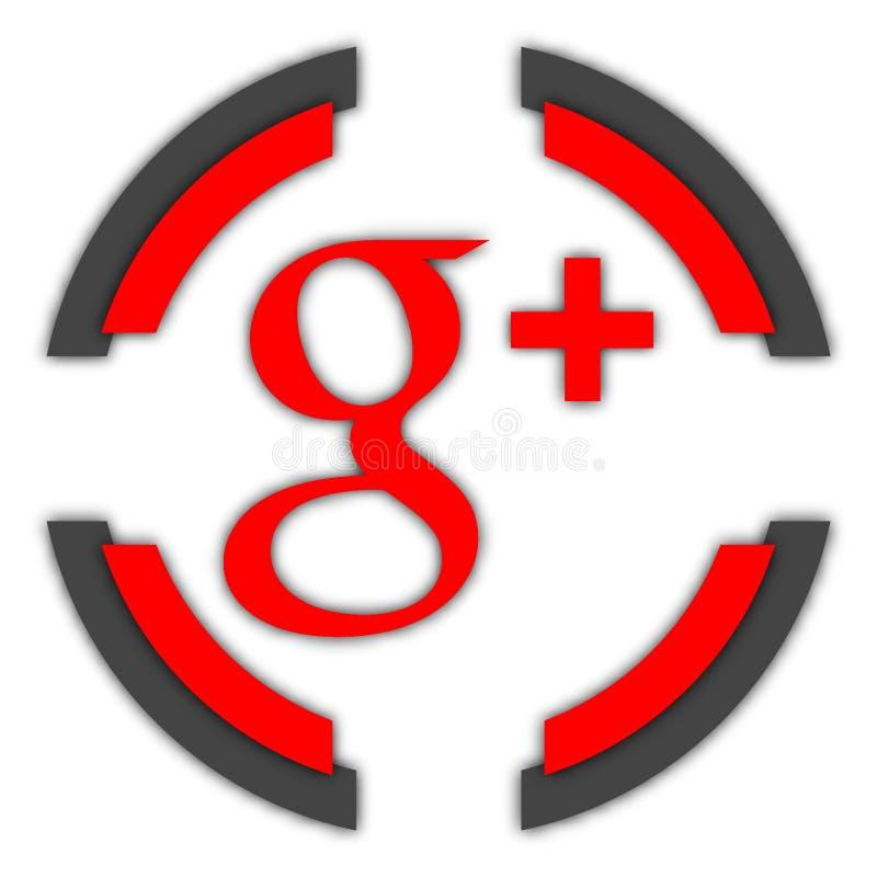 G+按钮 皇族释放例证