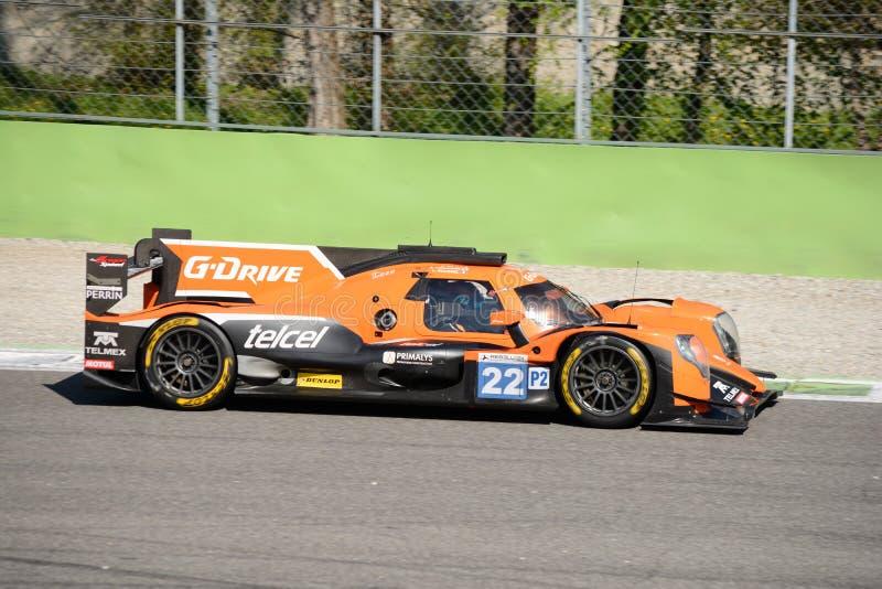 G-aandrijving die het Prototype van Oreca rennen Le Mans in Monza royalty-vrije stock afbeelding