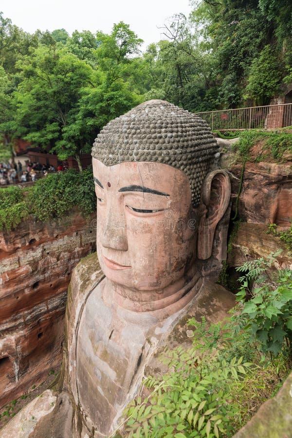 G?ant Bouddha de Leshan photos libres de droits