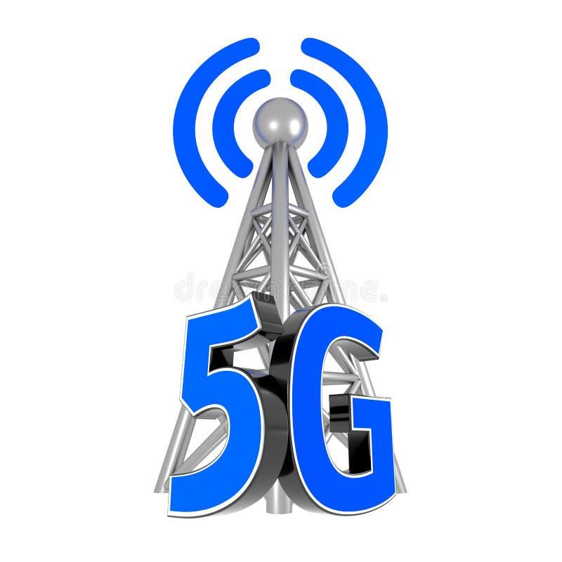 5G antenne 3d geef terug stock afbeeldingen