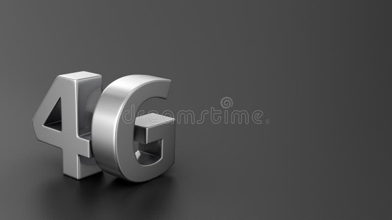Download 4G on black stock illustration. Illustration of element - 32772845