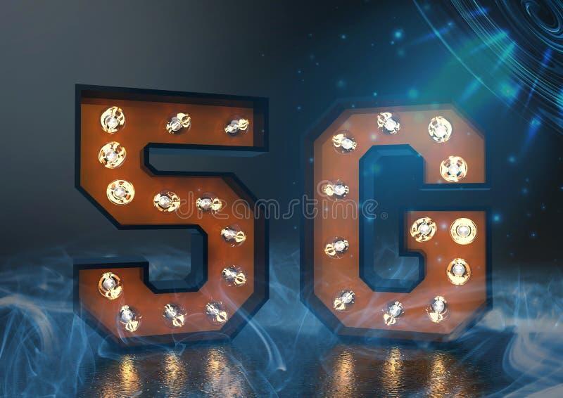 5g Breitband in einem futuristischen Hintergrund stock abbildung