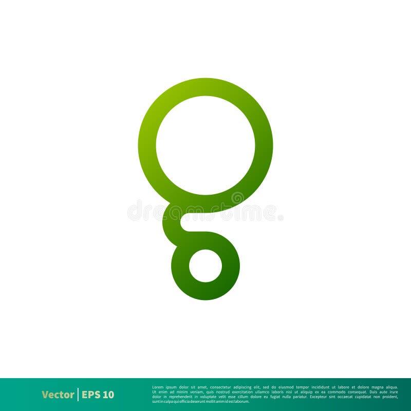 G-Buchstabe-Grün-Kreis-Ikonen-Vektor Logo Template Illustration Design Vektor ENV 10 lizenzfreie abbildung