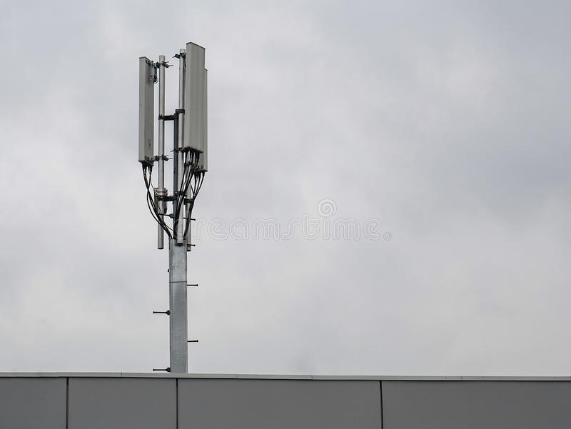 3G, 4G cellular. Base Transceiver Station. Telecommunication tower. Wireless Communication Antenna Transmitter stock photography
