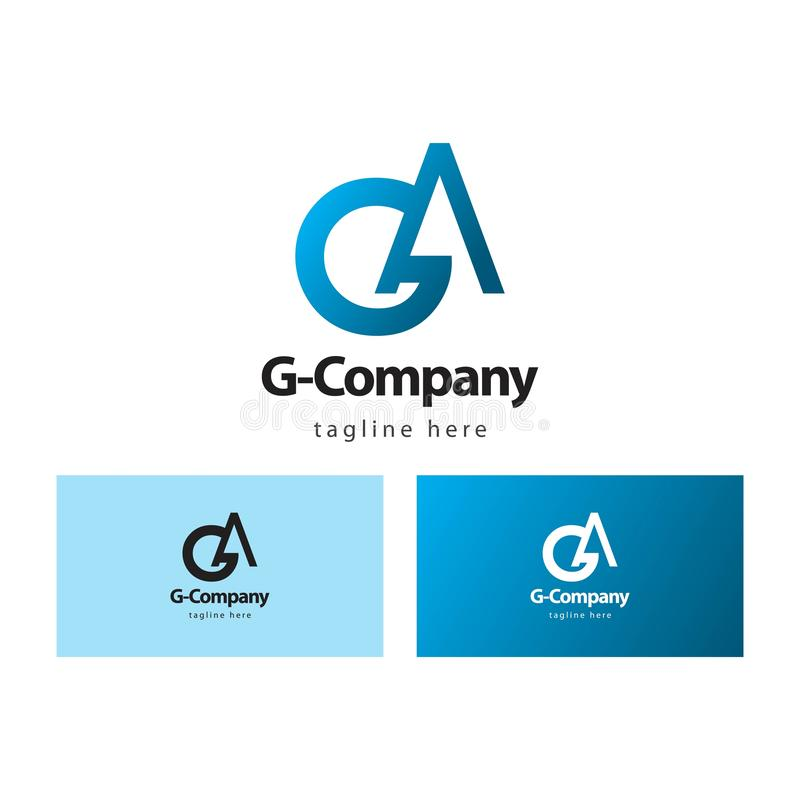 G Company Logo Vector Design Illustration stock abbildung