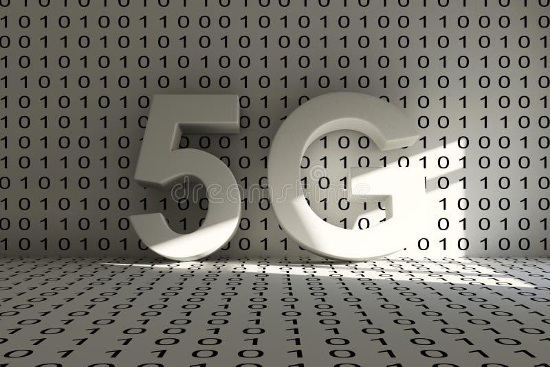 5G conceptual room royalty free illustration